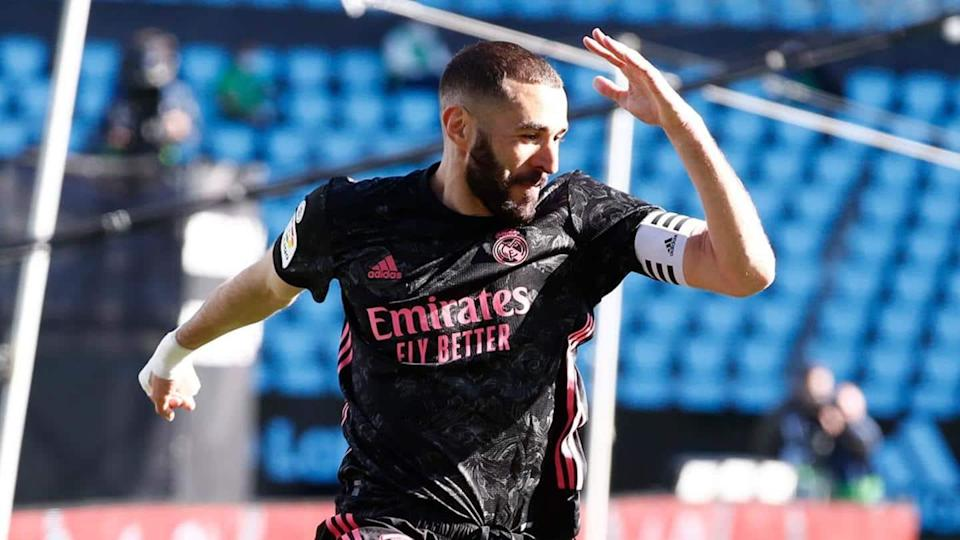 Benzema powers Real to second in La Liga: Records broken