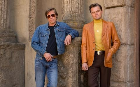 Brad Pitt and Leonardo DiCaprio in Once Upon a Time in Hollywood - Credit: ANDREW COOPER/CTMG