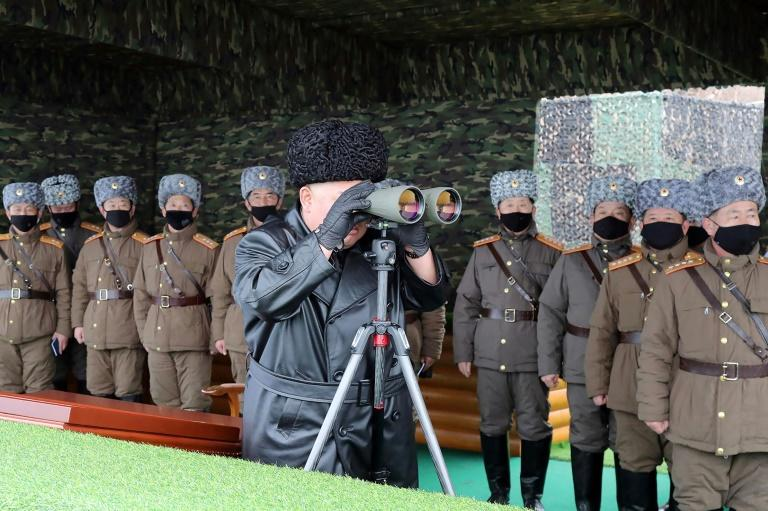 Kim has overseen multiple military drills in recent weeks as Pyongyang mounts an all-out drive to prevent an outbreak of the coronavirus