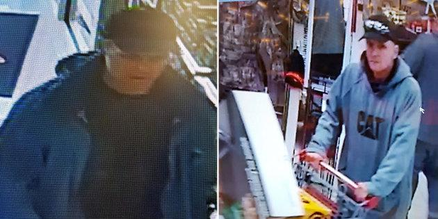 Halifax police shared photos of two men who allegedly stole almost $2,000 worth of merchandise from a Canadian Tire store.