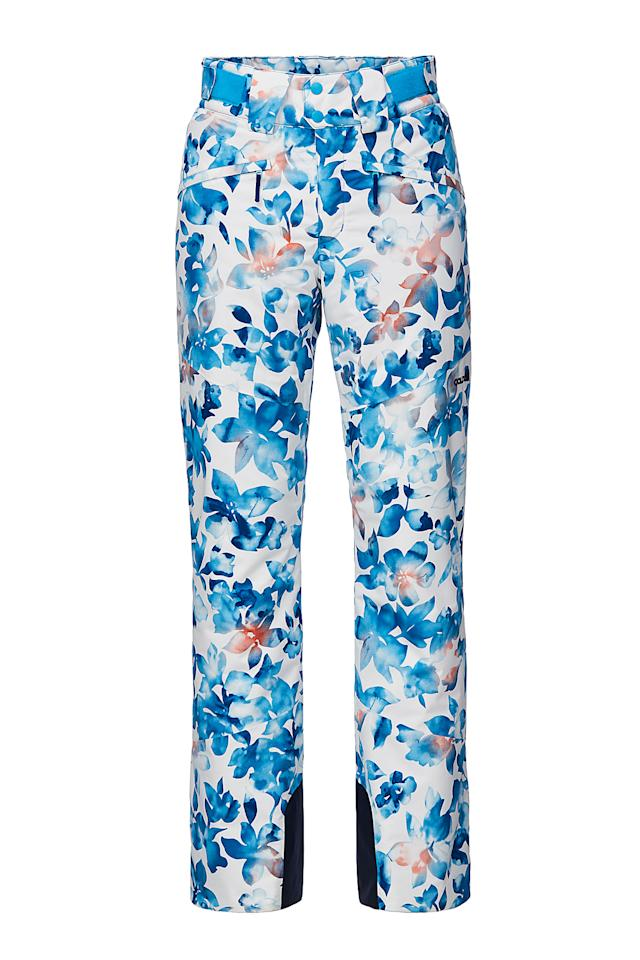 """<p><span>Printed ski pants are few and far between, which is an extra reason to love these gorgeous <a rel=""""nofollow"""" href=""""https://www.ellis-brigham.com/products/goldwin-womens-pale-flower-ski-pants/322606"""">Goldwin Pale Flower Pant</a></span><b> (£299.99)</b><span>. The watercolour flower print fabric is waterproof and breathable, and has all the features you need from a top-notch ski pant, such as inner gaiters, adjustable waist tabs and all-weather protection. [Photo: Ellis Brigham]</span> </p>"""