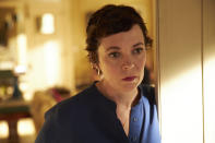 """This image released by Sony Pictures Classics shows Olivia Colman in a scene from """"The Father."""". (Sean Gleason/Sony Pictures Classics via AP)"""