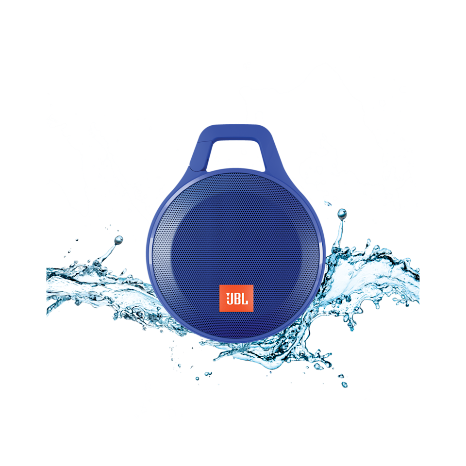 """<p><a rel=""""nofollow noopener"""" href=""""https://www.amazon.com/JBL-Splashproof-Portable-Bluetooth-Speaker/dp/B00YAVF1KY"""" target=""""_blank"""" data-ylk=""""slk:BUY NOW"""" class=""""link rapid-noclick-resp"""">BUY NOW</a> <strong><em>$33.95, Amazon</em></strong></p><p>A bluetooth speaker is nothing new, but this one is waterproof and can clip to your backpack or clothes. Plus, it comes in eight fun colors. </p>"""
