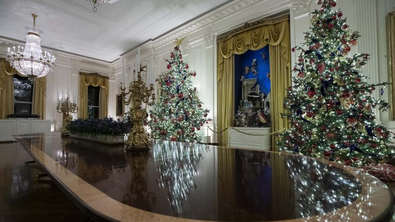 Melania Trump opts for patriotic decorations for Christmas