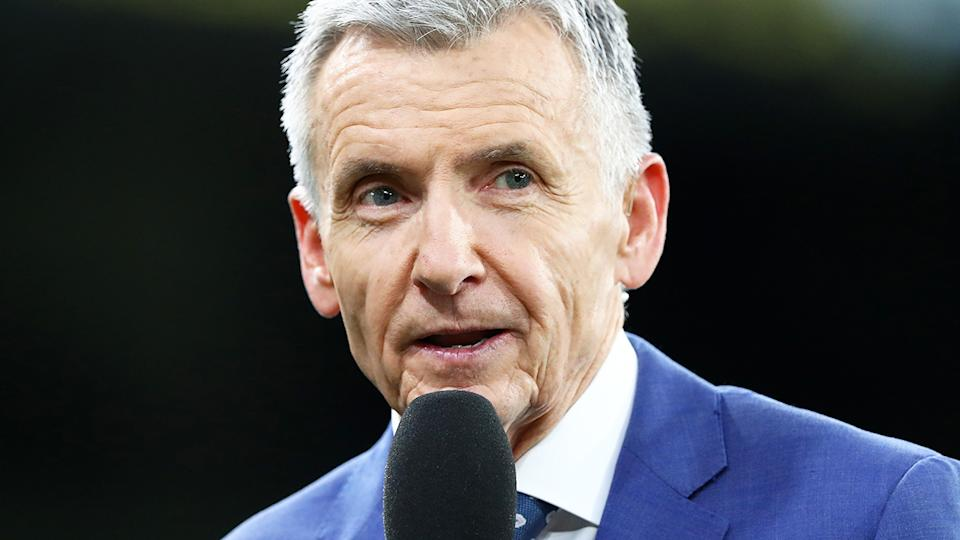 Bruce McAvaney, pictured here in commentary for Channel 7.