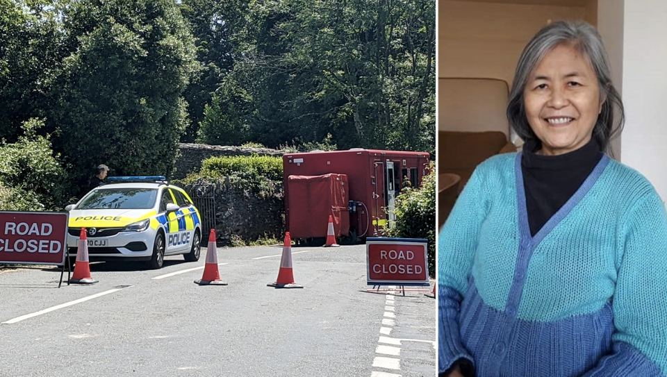 Mee Chong, 67, was found dead in woods in Salcombe, Devon. (SWNS)