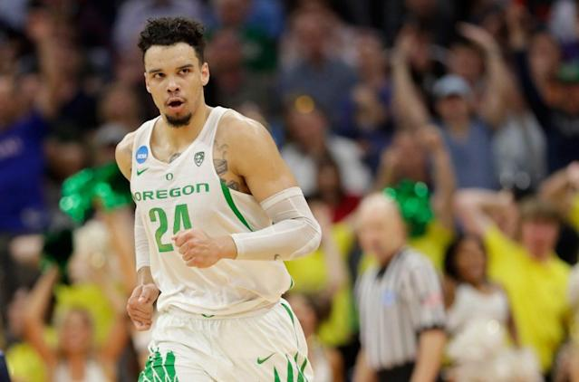 Dillon Brooks and Oregon can reach a second straight Elite Eight with a win over Michigan. (Getty Images)