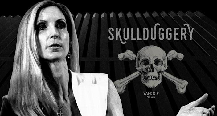 Ann Coulter and the border wall (Photo illustration: Yahoo News; photos: Patrick T. Fallon/Bloomberg via Getty Images, Eric Gay/AP)