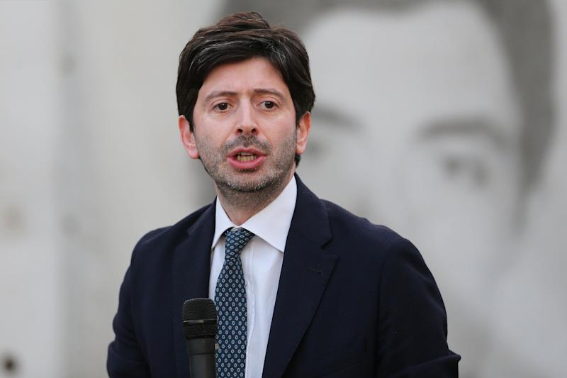 CASAL DI PRINCIPE, ITALY - 2020/07/04: The Italian Minister of Health, Roberto Speranza, speaks at the Don Diana National Award, organized by don Diana House, an anti-mafia association based in a villa seized from the organized crime Camorra. (Photo by Marco Cantile/LightRocket via Getty Images) (Photo: Marco Cantile via Getty Images)