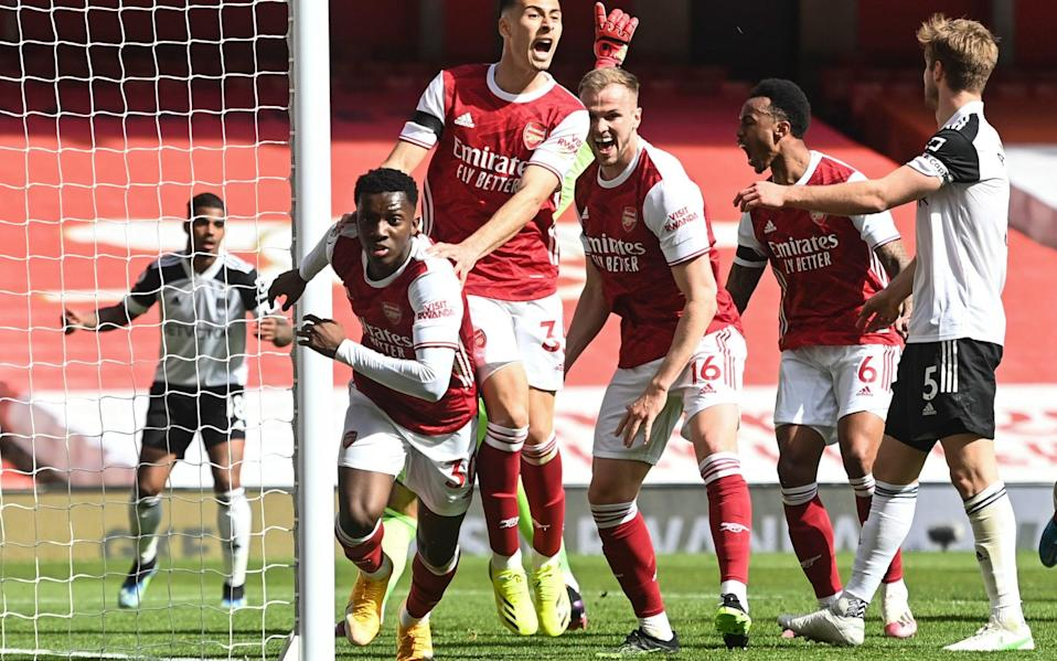 Arsenal steal a draw as late Eddie Nketiah equaliser takes Fulham closer to relegation - NMC POOL