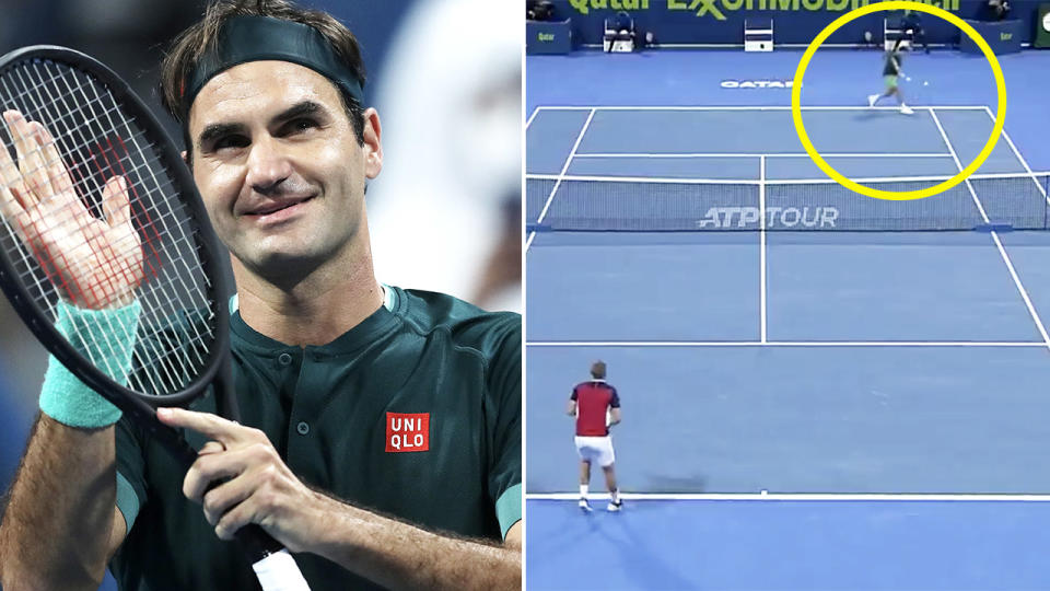 Roger Federer, pictured here beating Dan Evans at the Qatar Open.