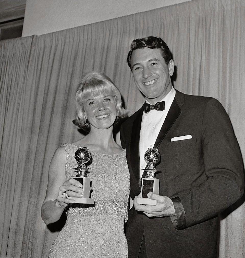 <p>Doris Day looked radiant in 1963, sparkling from head to toe. </p>