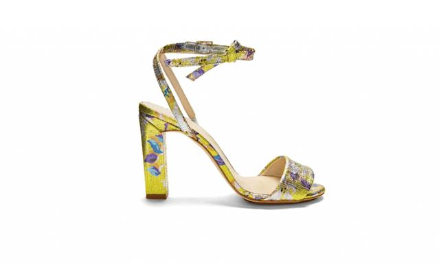 "<p>Brocade block-heel sandals, $395, <a href=""http://www.matchesfashion.com/us/products/Delpozo-Brocade-block-heel-sandals--1094941"" rel=""nofollow noopener"" target=""_blank"" data-ylk=""slk:matchesfashion.com"" class=""link rapid-noclick-resp"">matchesfashion.com</a> </p>"