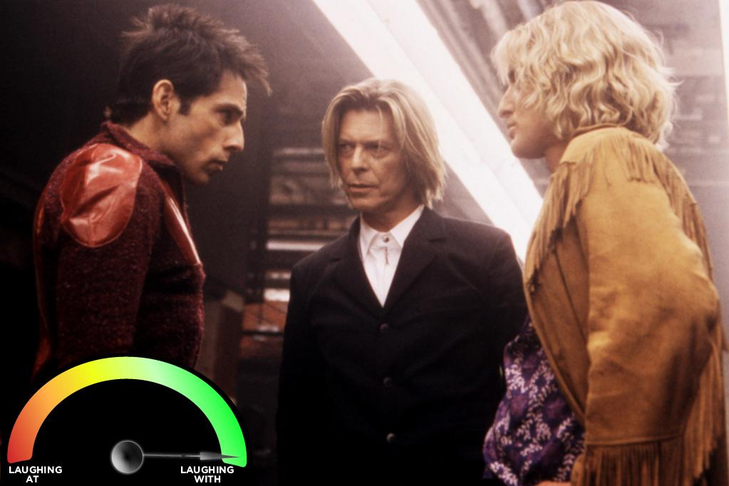 """<b>David Bowie </b><br>""""<a href=""""http://movies.yahoo.com/movie/zoolander/"""">Zoolander</a>"""" (2001)<br>Back in the '70s, the guy basically invented glam rock. If you make up a rock 'n' roll genre and you marry a super model, then you can pretty much do whatever you darn well please and continue to be 100% cool."""