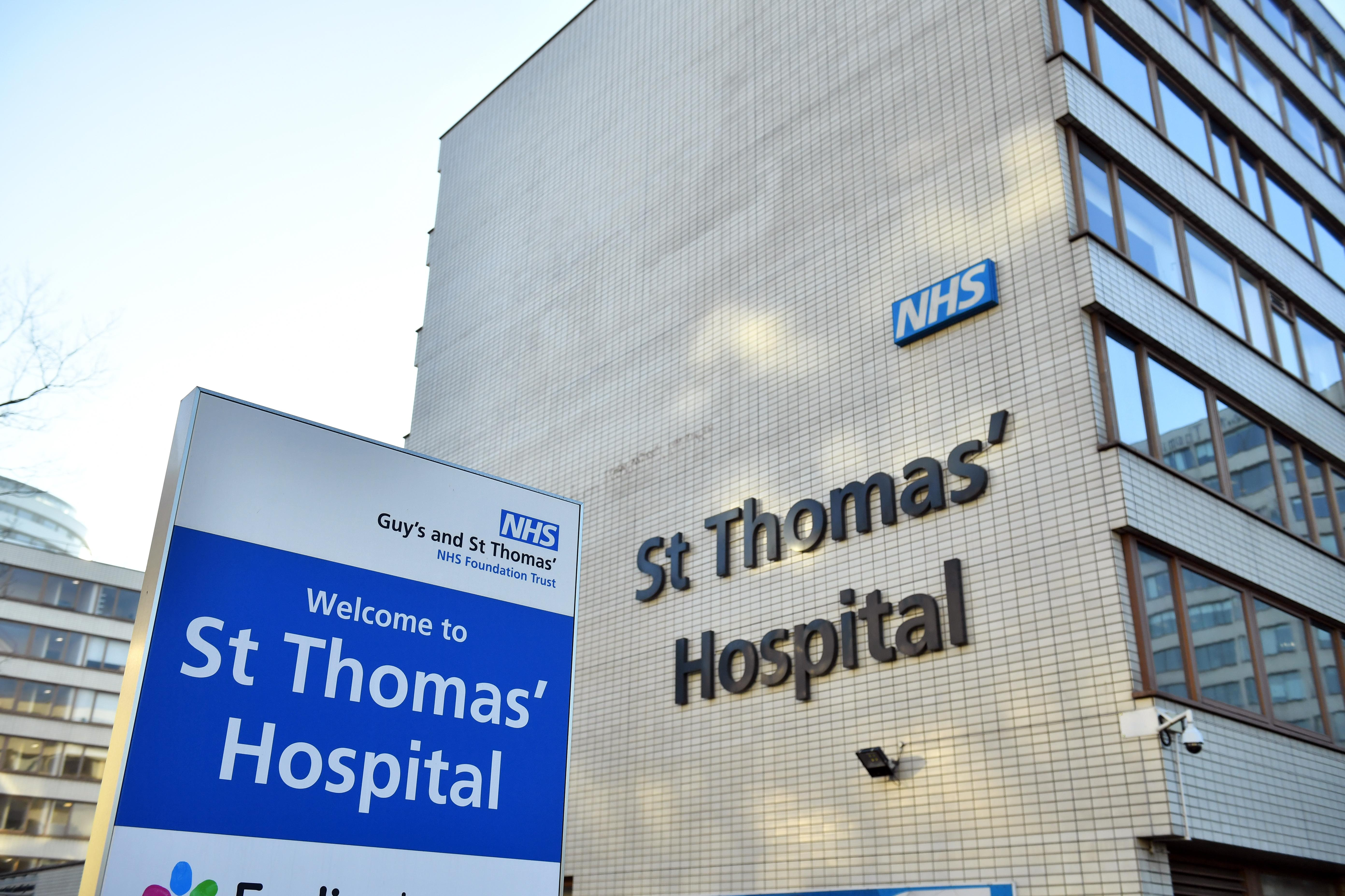 File photo dated 7/2/2029 of St Thomas' Hospital in London. A ninth case of coronavirus has been confirmed in the UK after a patient was taken to hospital in south London on Wednesday.