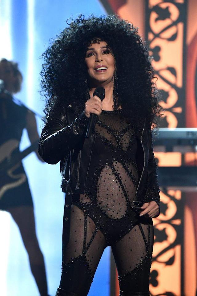 Honoree Cher performs onstage during the 2017 Billboard Music Awards at T-Mobile Arena on May 21 in Las Vegas. (Photo: Kevin Mazur/Getty Images)