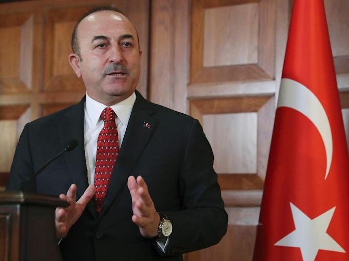 """Turkish Foreign Minister Mevlut Cavusoglu said Turkey was """"not against"""" a """"security zone"""" in Syria (AFP Photo/Adem ALTAN)"""