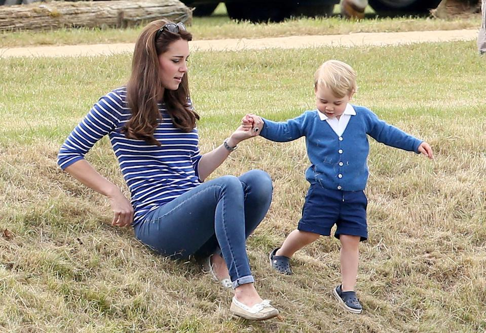 <p>While enjoying a charity polo match the royal mother and son looked to be having a moment for playtime too.</p>