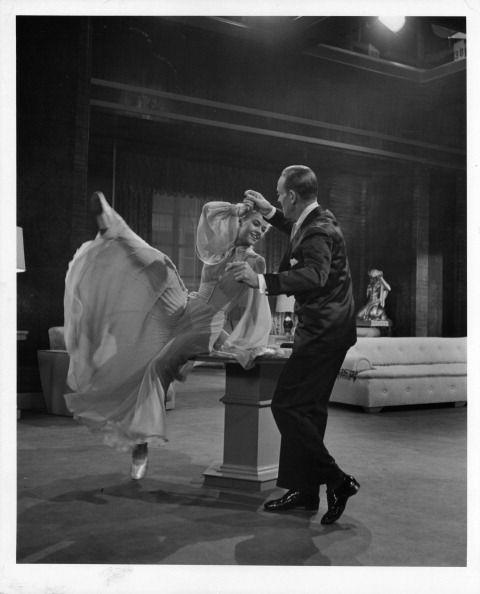 <p>While showing off her impeccable dance moves with partner Fred Astaire, actress Vera-Ellen gave a glimpse of her dreamy pink satin ballet shoes in <em>Three Little Words</em>. </p>