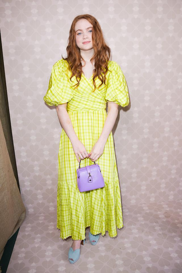 Sadie Sink attends the Kate Spade spring/summer 2020 Fashion Show during New York Fashion Week looking like a ray of pure sunshine.