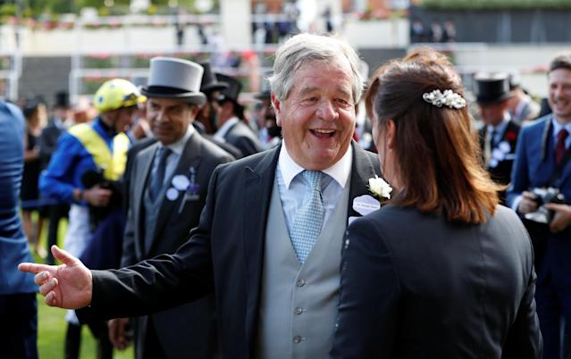 Horse Racing - Royal Ascot - Ascot Racecourse, Ascot, Britain - June 20, 2018 Michael Stoute trainer of Poet's Word after winning the 4.20 Prince of Wales's Stakes Action Images via Reuters/Paul Childs