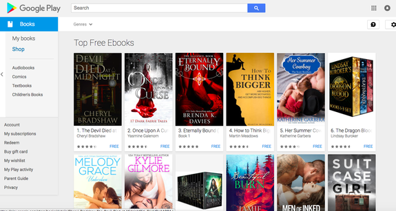 The Google eBookstore offers an entire section of free e-books to download.