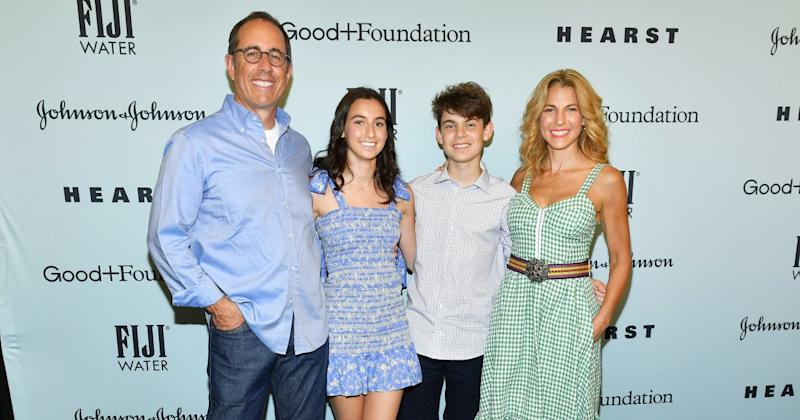 caf5c27b Jerry Seinfeld and Wife Jessica Step Out with Son Shepherd, 13, and  Daughter Sascha, 18