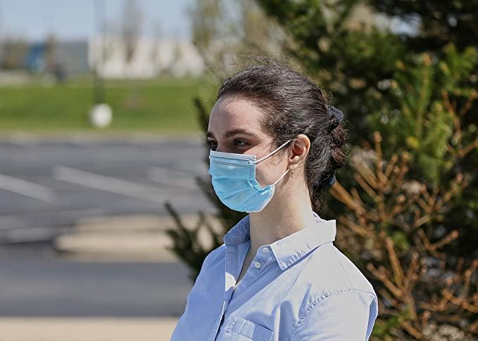 Basic Resources Single Use Disposable Face Masks. Image via Amazon.