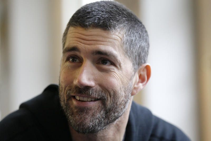 "FILE - In this Nov. 22, 2010 file photo, actor Matthew Fox talks to The Associated Press during the launch of the new play ""In a Forest, Dark and Deep"" at the Vaudeville theatre in London. Fox, star of the television show ""Lost,"" has been charged with drunken driving in Oregon. Police in Bend say the 45-year-old who lives in the Central Oregon city was stopped early Friday, May 4, 2012 after an officer noticed a motorist failing to signal properly or stay within a lane of traffic. (AP Photo/Sang Tan, File)"
