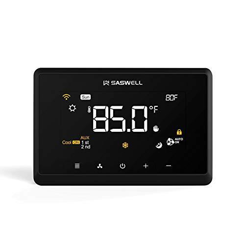 Saswell Wi-Fi Smart Thermostat, Tuya APP Remote Control, Compatible with Alexa, Google