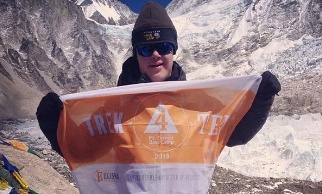 Eli Reimer, a 16-year-old with Down syndrome, reaches Mount Everest's Base Camp, a 70-mile trek to 17,598 feet.