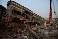 At least 43 people were killed and dozens injured when a packed Pakistani inter-city train ploughed into a train that had derailed minutes earlier in Daharki area of the northern Sindh province on June 7, 2021