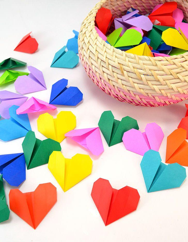 "<p>Have everyone over for a fun night of <a href=""https://www.countryliving.com/diy-crafts/g1093/valentine-day-crafts/"">DIY Valentine's Day crafts</a>. You'll not only spend much-needed quality time together, but you'll also make sweet keepsakes, like these origami hearts that you can string around your room.</p><p><strong>Get the tutorial at <a href=""https://www.countryliving.com/diy-crafts/g1093/valentine-day-crafts/"" target=""_blank"">Dream a Little Bigger</a>.</strong></p><p><strong><a class=""body-btn-link"" href=""https://www.amazon.com/Onepine-Colors-Sheets-Origami-Projects/dp/B07G5CHTVX/?tag=syn-yahoo-20&ascsubtag=%5Bartid%7C10050.g.30429863%5Bsrc%7Cyahoo-us"" target=""_blank"">SHOP ORIGAMI PAPER</a><br></strong></p>"