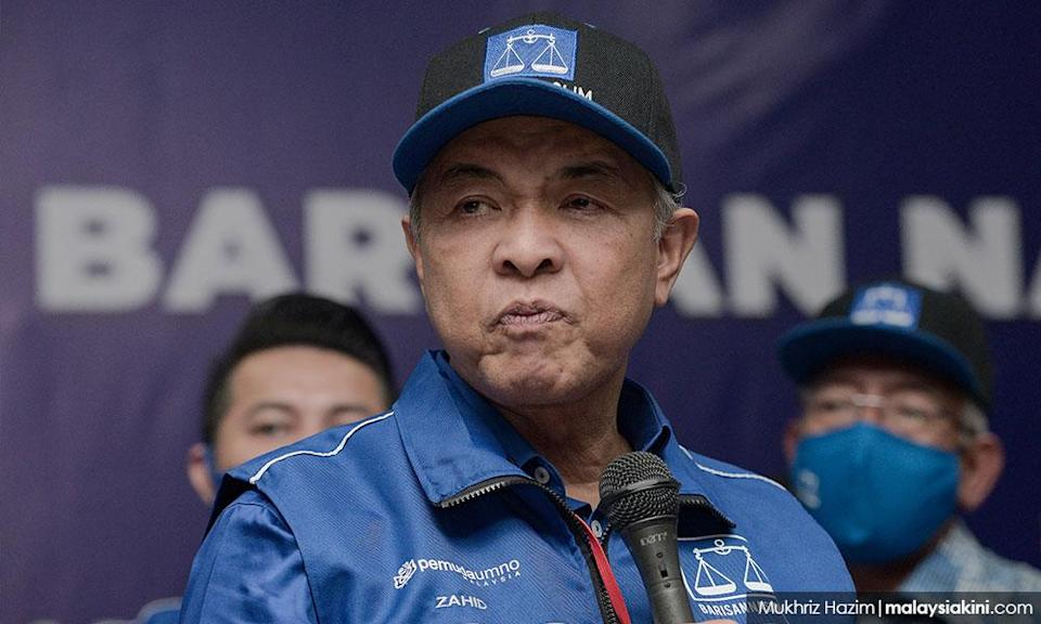 Zahid says BN betrayed, MPs who jumped ship are 'weak'
