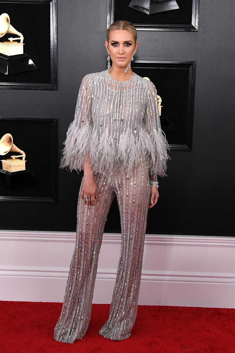 Ashlee Simpson in Georges Chakra Couture