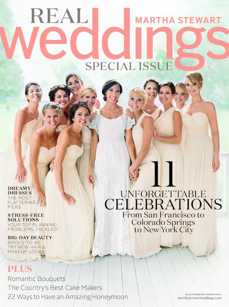 <p>Identically dressed in a strapless J.Crew gown alongside 10 other bridesmaids, Jennifer Lawrence added some star quality to her brother's wedding party. <i>(photo: Martha Stewart Real Weddings)</i></p>
