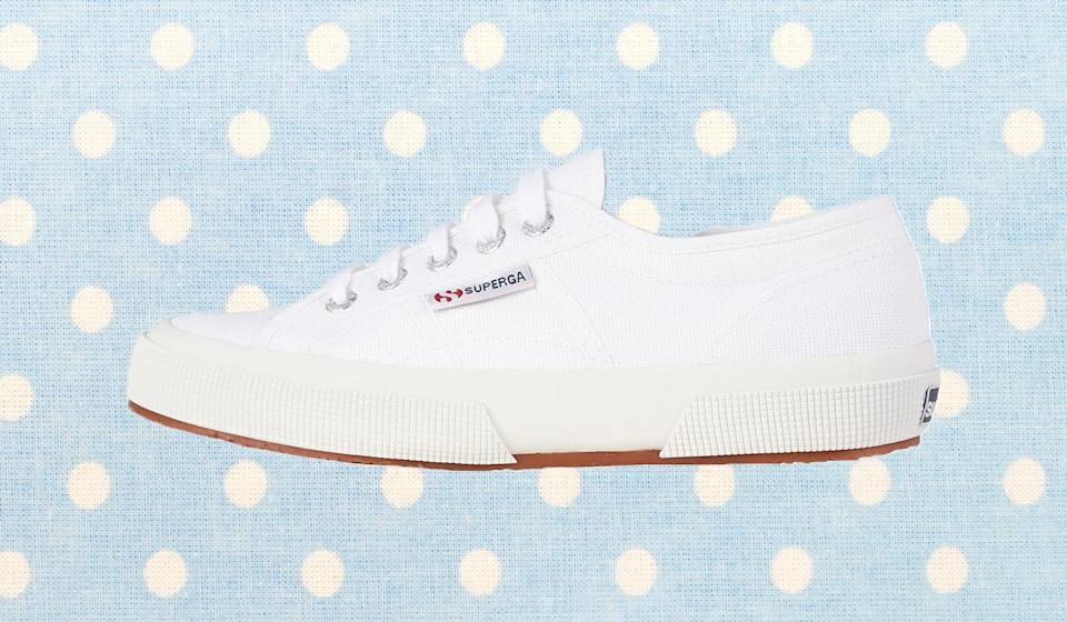 White-hot sneakers will always be on trend. (Photo: Zappos)
