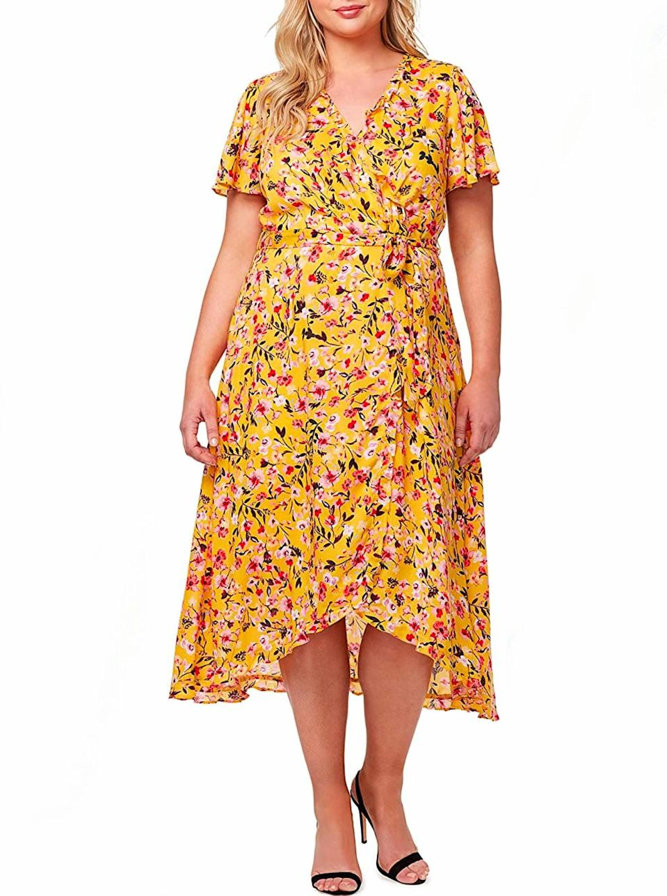 """POV: You're dancing under the moonlight and """"Yellow"""" by Coldplay comes on. $53, Amazon. <a href=""""https://www.amazon.com/Jessica-Simpson-Womens-Emberglow-Florals/dp/B08PNRCBDW/ref="""" rel=""""nofollow noopener"""" target=""""_blank"""" data-ylk=""""slk:Get it now!"""" class=""""link rapid-noclick-resp"""">Get it now!</a>"""