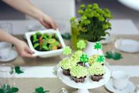 """<p>Even though St. Paddy's Day falls on a Wednesday this year, it doesn't mean you can't kick off the holiday with a festive family brunch at home. Make sure to prepare some delicious treats — and don't forget the <a href=""""https://www.goodhousekeeping.com/holidays/g4968/st-patricks-day-decorations/"""" rel=""""nofollow noopener"""" target=""""_blank"""" data-ylk=""""slk:festive party decorations"""" class=""""link rapid-noclick-resp"""">festive party decorations</a>, of course.</p>"""