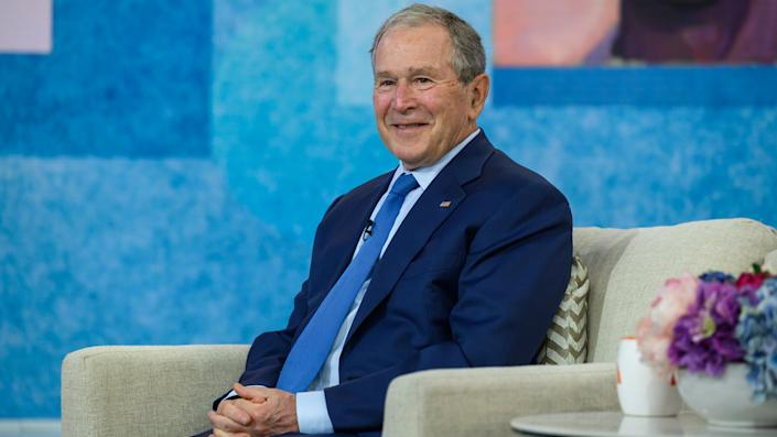 George W. Bush attends a Naturalization Ceremony on Tuesday, April 20, 2021. (Nathan Congleton/NBC/NBCU Photo Bank via Getty Images)