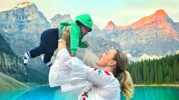 PHOTO: Karen Edwards poses with her son, Quinn, while on maternity leave. (Karen Edwards)