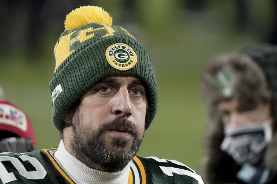Where will Aaron Rodgers be next season? (AP Photo/Morry Gash)