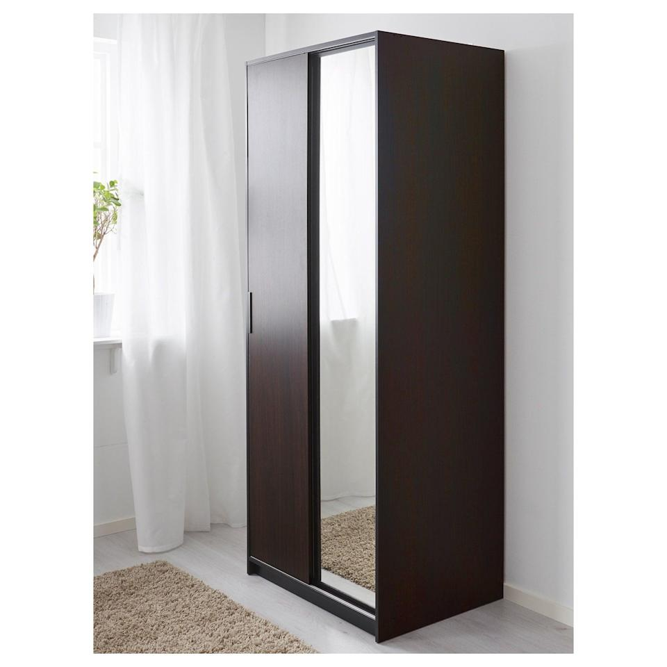 <p>The sliding doors on the <span>Trysil Wardrobe's</span> ($199) design makes small-space living way easier.</p>