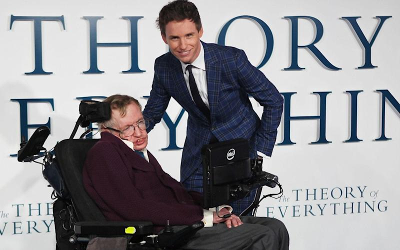 Eddie Redmayne starred as Professor Hawking in the 2014 film The Theory Of Everything - Rex Features