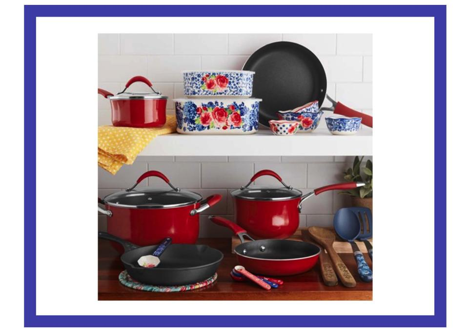Cast iron, enamel, ceramic, and more—accessories included. (Photo: Walmart)