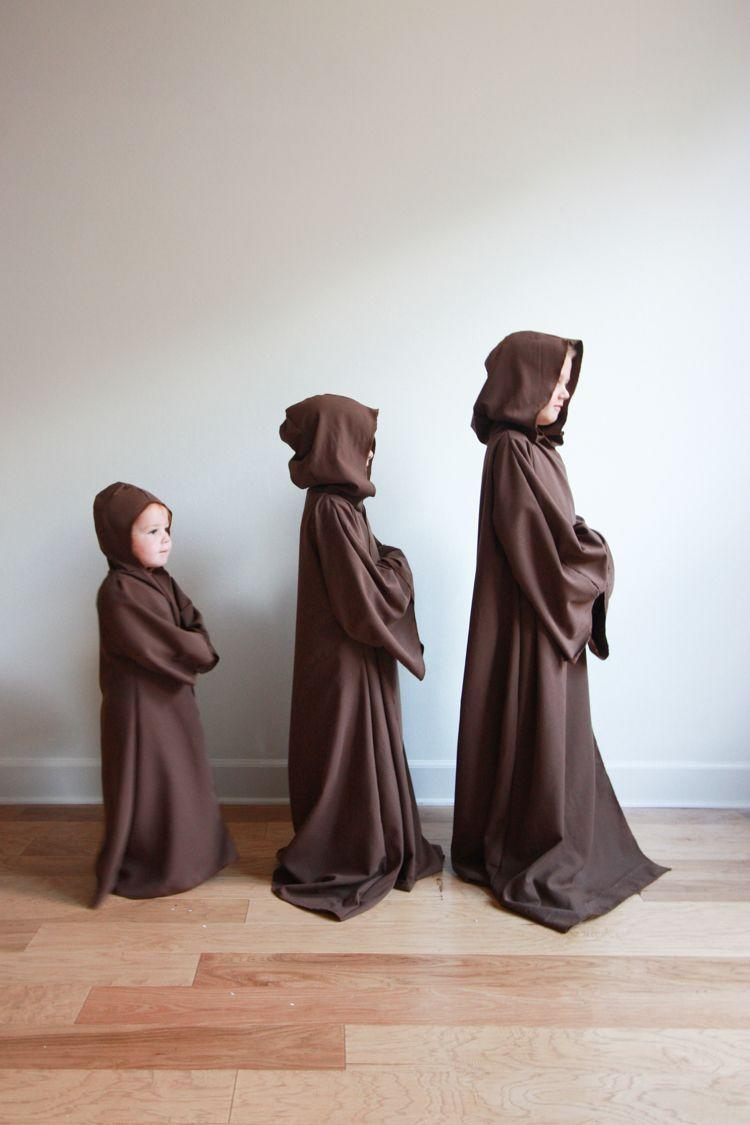 """<p>With a tutorial this easy, there will be """"no try"""" to make these Jedi robes, only """"do.""""</p><p><strong>Get the tutorial at <a href=""""https://livefreecreative.co/diy-jedi-robe-kids/"""" rel=""""nofollow noopener"""" target=""""_blank"""" data-ylk=""""slk:Live Free Creative Co"""" class=""""link rapid-noclick-resp"""">Live Free Creative Co</a>.</strong></p><p><a class=""""link rapid-noclick-resp"""" href=""""https://www.amazon.com/Measure-Sewing-Foldable-Flexible-Measurement/dp/B081JR2QXR/ref=asc_df_B081JR2QXR/?tag=syn-yahoo-20&ascsubtag=%5Bartid%7C10050.g.21287723%5Bsrc%7Cyahoo-us"""" rel=""""nofollow noopener"""" target=""""_blank"""" data-ylk=""""slk:SHOP MEASURING TAPE"""">SHOP MEASURING TAPE</a><br></p>"""
