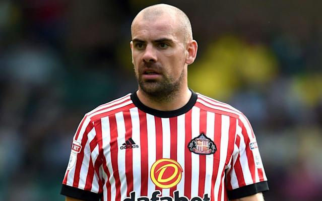 """Sunderland have suspended midfielder Darron Gibson after he was charged with drink driving following a multi-car crash on a pedestrian street in the city. Pictures emerged over the weekend of damage to several cars, including the former Manchester United and Everton player's own £75,000 Mercedes, as well as shots of Gibson speaking to police officers. Sunderland, who are bottom of the Championship and facing a second successive relegation after dropping out of the top flight last year, decided to order the player to stay away from the training ground because of the seriousness of the offence. Gibson is currently injured and would not have played in the Black Cats' 2-0 home defeat to Preston North End, even if he had not been arrested just three hours before kick-off. The club said in a statement on Sunday morning: """"Sunderland AFC has suspended Darron Gibson with immediate effect, after the player was charged with driving with excess alcohol on Saturday 17 March. The football club has commenced a full investigation into the matter. Sunderland's chief executive, Martin Bain added: """"We expect the highest standard of behaviour from our players and should any individual fall short of those standards then robust action must be taken."""" Gibson was taken away by police after his luxury 4×4 clipped a Nissan Note as he drove down a quiet street in the city. He then collided with other parked cars, including a white Seat Ibiza, which was propelled 40 feet down the road by the force. Police were called to Dovedale Road, Sunderland, shortly before noon on Saturday and Gibson was arrested on suspicion of drink driving. Gibson in action for Sunderland earlier this season Credit: Getty images In September 2015, the Republic of Ireland international admitted drink driving after he crashed his £125,000 Nissan Skyline GT-R Nismo into three cyclists at a petrol station close to his home in Bowdon, Cheshire. He was banned from driving for 20 months and handed 200 hours of unpaid work as """