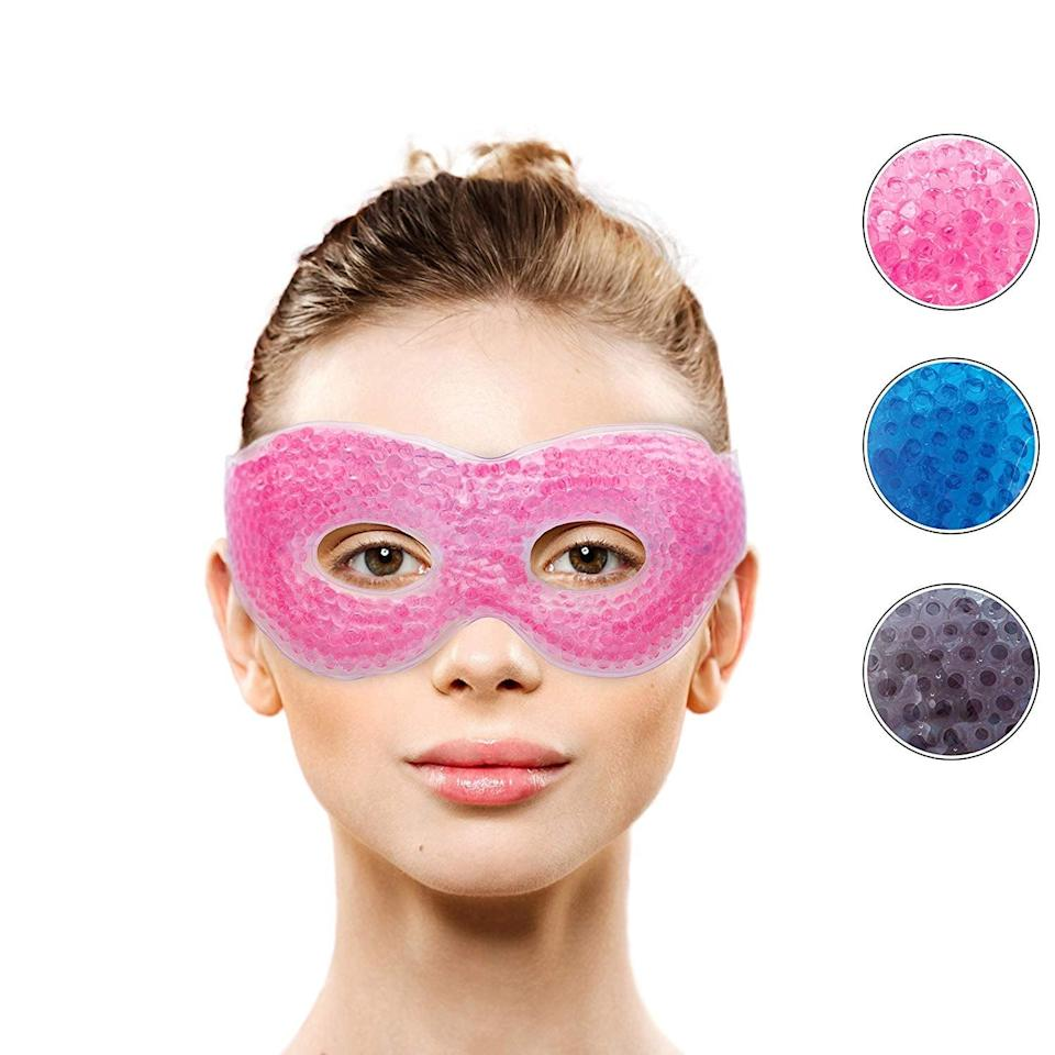 <p>Ok, hear me out on this one. I get headaches, and I was putting ice packs on my face that kept falling off. This <span>Gel Eye Mask With Eye Holes</span> ($10) is genius because I don't have to worry about that, and it makes me feel like a superhero.</p>