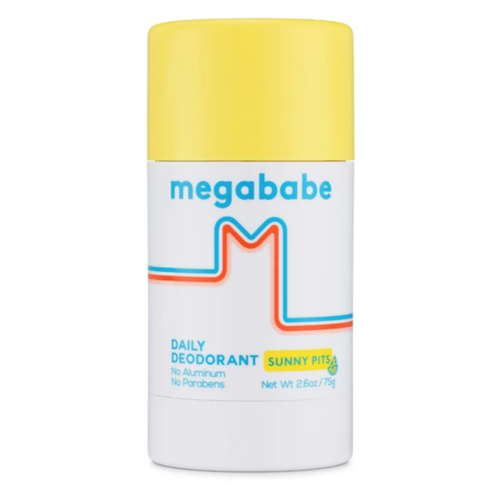 "<p><strong>Megababe</strong></p><p>ulta.com</p><p><strong>$18.00</strong></p><p><a href=""https://go.redirectingat.com?id=74968X1596630&url=https%3A%2F%2Fwww.ulta.com%2Fsunny-pits-daily-deodorant%3FproductId%3Dpimprod2007773&sref=http%3A%2F%2Fwww.harpersbazaar.com%2Fbeauty%2Fskin-care%2Fg28570084%2Fbest-aluminum-free-deodorants%2F"" target=""_blank"">Shop Now</a></p><p>Any good deodorant will keep your armpits dry and soft. We love this one from Megababe because it also makes us smell like fresh-squeezed lemonade. </p>"