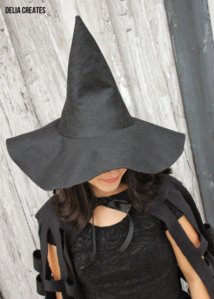 """<p>The number one item you need to dress up as a witch is a pointed black witch hat. Luckily, this blogger has easy instructions for making felt witch hats of any size!</p><p><strong>Get the tutorial at <a href=""""https://www.deliacreates.com/make-witch-hat-in-any-size-tutorial/"""" rel=""""nofollow noopener"""" target=""""_blank"""" data-ylk=""""slk:Delia Creates"""" class=""""link rapid-noclick-resp"""">Delia Creates</a>.</strong></p><p><a class=""""link rapid-noclick-resp"""" href=""""https://go.redirectingat.com?id=74968X1596630&url=https%3A%2F%2Fwww.walmart.com%2Fsearch%2F%3Fquery%3Dfabric%2Bscissors&sref=https%3A%2F%2Fwww.thepioneerwoman.com%2Fhome-lifestyle%2Fcrafts-diy%2Fg37050429%2Fdiy-witch-costumes%2F"""" rel=""""nofollow noopener"""" target=""""_blank"""" data-ylk=""""slk:SHOP FABRIC SCISSORS"""">SHOP FABRIC SCISSORS</a></p><p><a class=""""link rapid-noclick-resp"""" href=""""https://go.redirectingat.com?id=74968X1596630&url=https%3A%2F%2Fwww.walmart.com%2Fsearch%2F%3Fquery%3Dblack%2Bfelt&sref=https%3A%2F%2Fwww.thepioneerwoman.com%2Fhome-lifestyle%2Fcrafts-diy%2Fg37050429%2Fdiy-witch-costumes%2F"""" rel=""""nofollow noopener"""" target=""""_blank"""" data-ylk=""""slk:SHOP BLACK FELT"""">SHOP BLACK FELT</a></p>"""